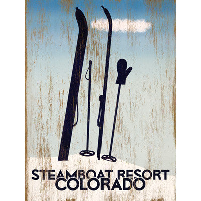 Personalized Colorado Skiing Wood Sign
