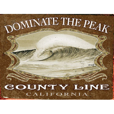 Personalized Dominate The Peak Wood Sign