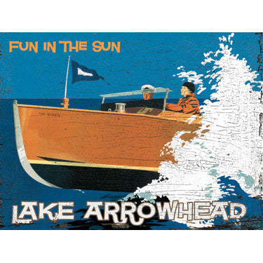 Personalized Lake Boat Wood Sign