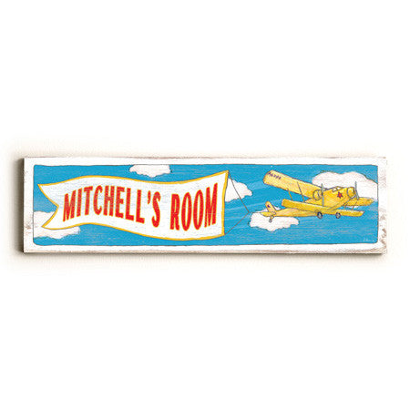 Personalized Boy's Room Plane Wood Sign