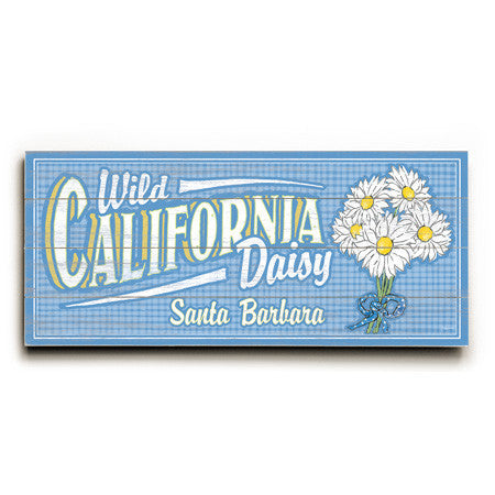 Personalized Wild Daisy Wood Sign