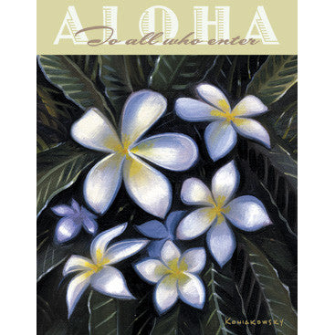 Personalized Aloha To All Who Enter Wood Sign
