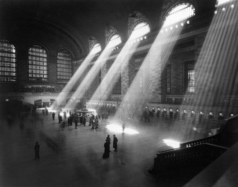 New York City 1940's Grand Central Railroad Fine Art Print