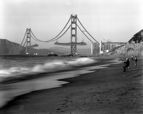 1936 San Francisco Baker Beach Fine Art Print