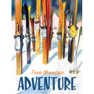 True Mountain Adventure Wood Sign