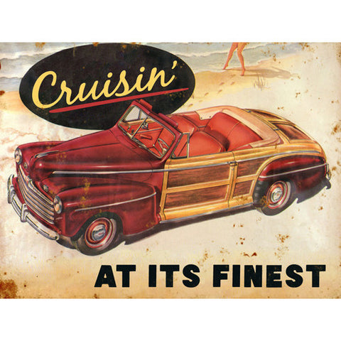 Car Cruisin At Its Finest Wood Sign