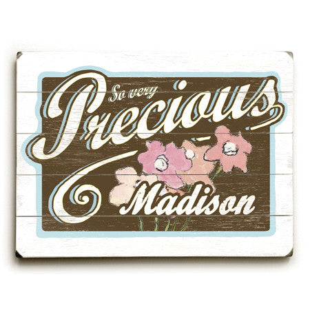 Personalized Kids Precious Wood Sign