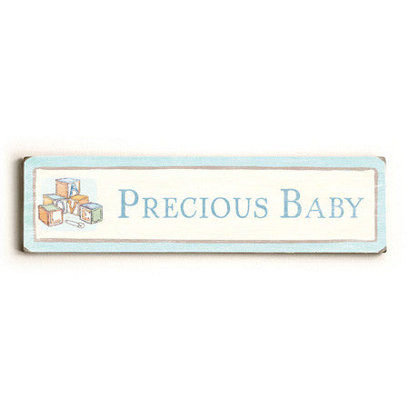 Precious Baby Wood Sign