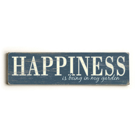 Personalized Happiness Wood Sign