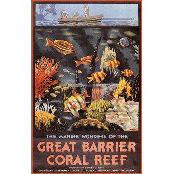 Great Barrier Coral Reef Wood Sign