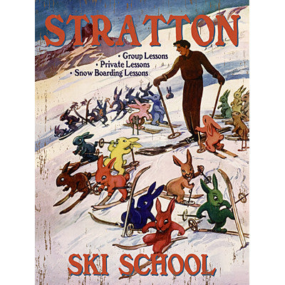 Personalized Stratton Ski School Wood Sign