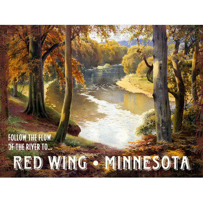 Personalized Red Wing Minnesota Wood Sign