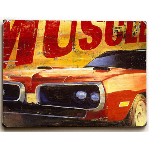 Muscle Car by Artist Cory Steffen Wood Sign