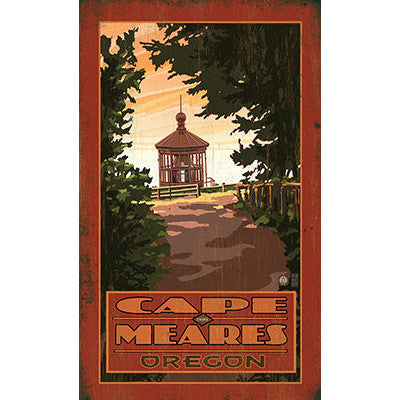 Personalized Cape Meares Oregon Wood Sign