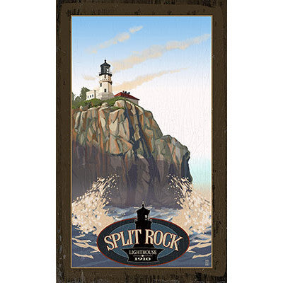 Personalized Split Rock Lighthouse Wood Sign