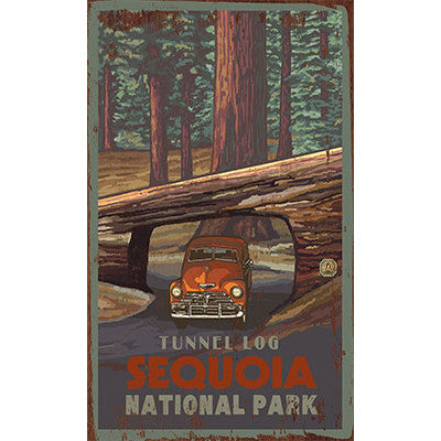 Personalized Tunnel Log Sequoia National Park Wood Sign