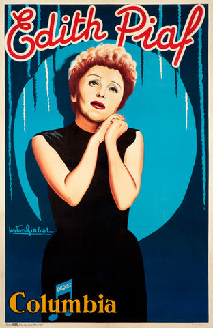 Edith Piaf Advertisement Fine Art Print