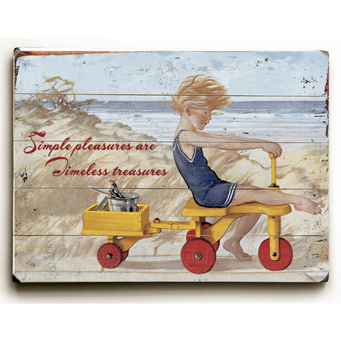 Simple Pleasures Are Timeless Treasures Wood Sign