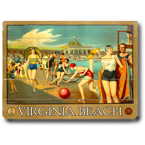 Personalized Virginia Beach Wood Sign