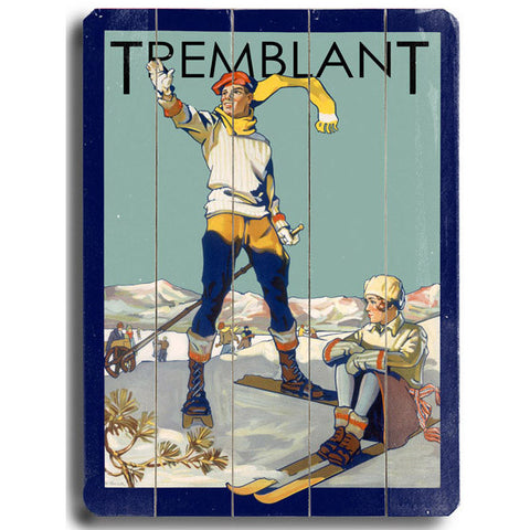 Personalized Tremblant Skiing Wood Sign