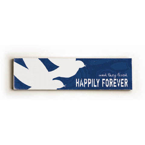 Happily Forever Wood Sign