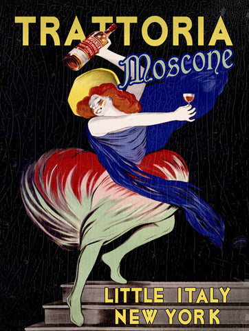 New York Trattoria Mosconi Ad Fine Art Print
