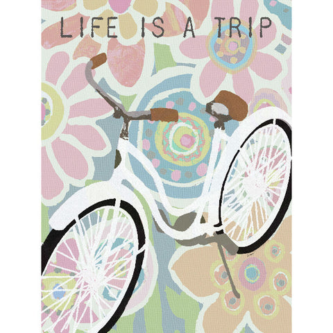 Life Is A Trip by Artist Lisa Weedn Wood Sign