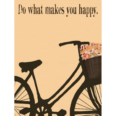 What Makes You Happy by Artist Lisa Weedn Wood Sign