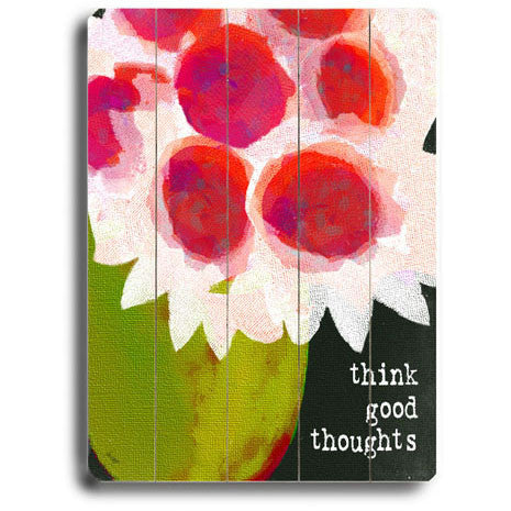 Think Good Thoughts by Artist Lisa Weedn Wood Sign