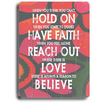 Have Faith by Artist Lisa Weedn Wood Sign