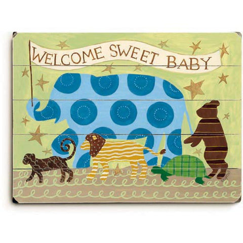 Welcome Sweet Baby Wood Sign