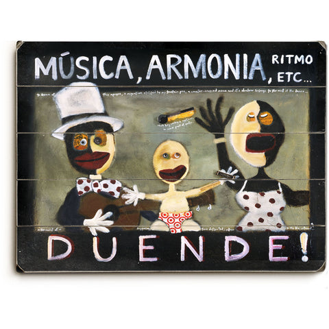 Musica, Armonia by Artist Tim Weldon Wood Sign