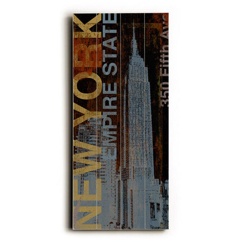 NY Empire State by Artist Cory Steffen Wood Sign