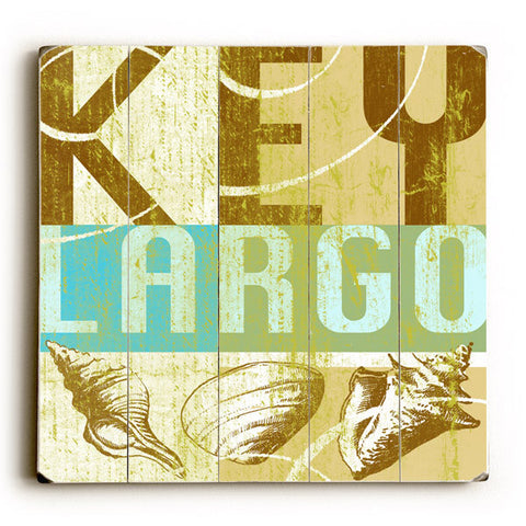 Key Largo by Artist Cory Steffen Wood Sign