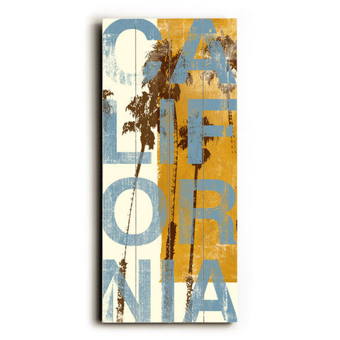 California by Artist Cory Steffen Wood Sign