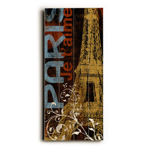 Paris Dark by Artist Cory Steffen Wood Sign
