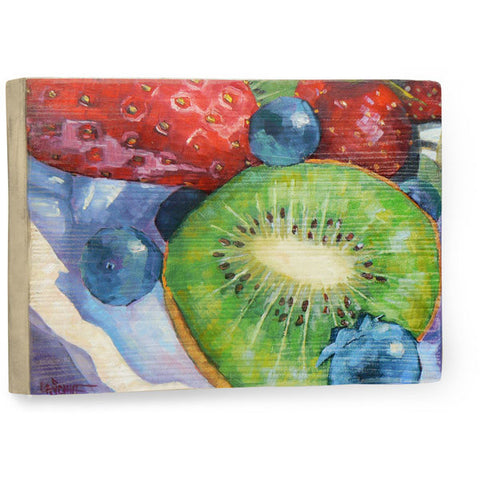 Kiwi And More by Artist Carol Schiff Wood Sign