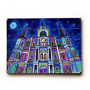 Starry Cathedral by Artist Heather Diamond Wood Sign