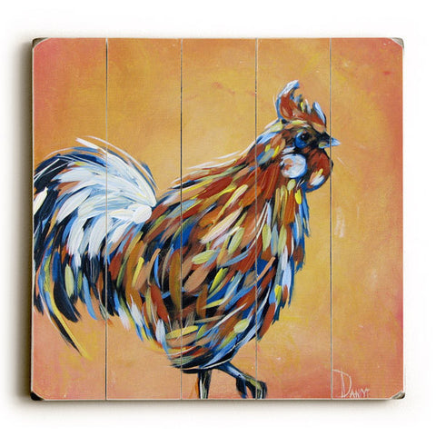 Rooster Ready by Artist Danlye Jones Wood Sign
