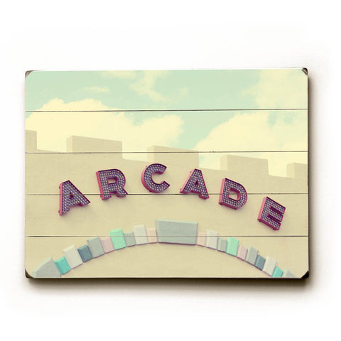 Arcade by Artist April Andrews Wood Sign