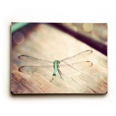 Dragonfly by Artist April Andrews Wood Sign