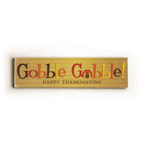 Personalized Gobble Gobble Wood Sign