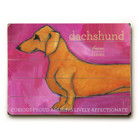Dachshund by Artist Ursula Dodge Wood Sign