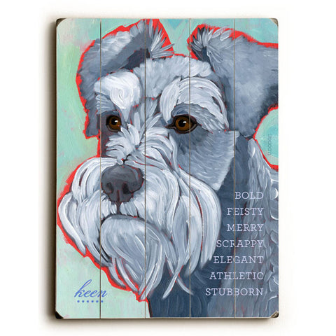 We Love Our Dogs Wall Clock by Artist Lisa Weedn