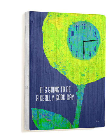 Good Day Wall Clock by Artist Lisa Weedn