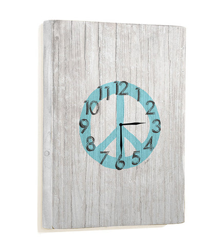 Peace Symbol Wall Clock by Artist Lisa Weedn