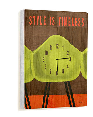 Style is Timeless Wall Clock by Artist Lisa Weedn