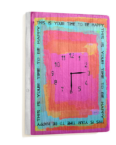 This is Your Time Wall Clock by Artist Lisa Weedn