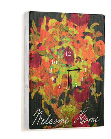 Welcome Home Wall Clock by Artist Lisa Weedn