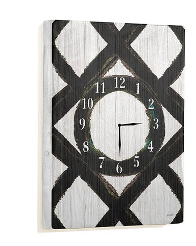 Black & White Wall Clock by Artist Lisa Weedn